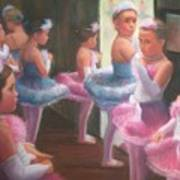 Little Ballerinas Backstage At The Recital Art Print