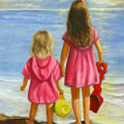 Little Beachcombers Art Print