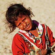 Little Bedouin Girl Art Print by Chaza Abou El Khair