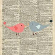 Little Birds Love Art Print