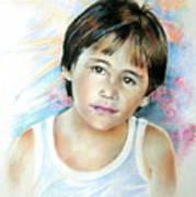 Little Boy From Tahiti Art Print