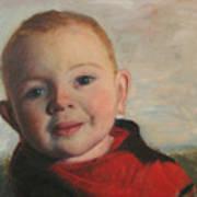 Little boy in red Art Print