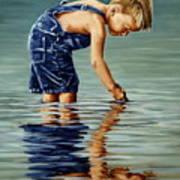 Little Boy Reflection Art Print