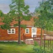 Little Cabin In The Big Woods Art Print
