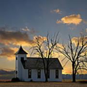 Little Church On The Prairie Art Print