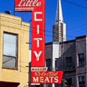 Little City Sign North Beach Art Print