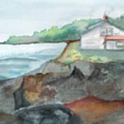 Little Cottage Art Print