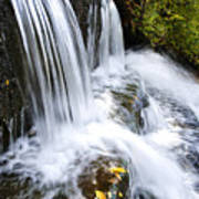 Little Elbow Waterfall Art Print by Thomas R Fletcher