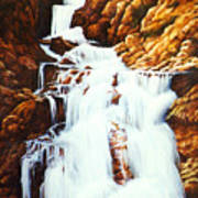 Little Firehole Falls Art Print