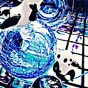 Little Glass Pandas 30 Art Print