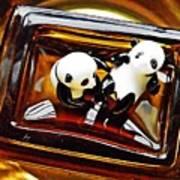 Little Glass Pandas 43 Art Print