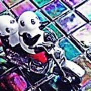 Little Glass Pandas 45 Art Print