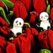 Little Glass Pandas 80 Art Print