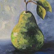 Little Green Pear Art Print