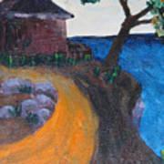 Little House On Hill Art Print