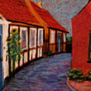 Little Houses On Bornholm Island Art Print