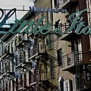 Little Italy In New York Art Print