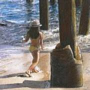 Little Jessica and Her Hat Malibu Pier  Art Print