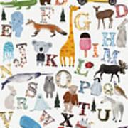 Little Nature Alphabet Art Print