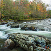 Little Pigeon River In Autumn In Smoky Mountains In Autumn Art Print
