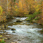 Little Pigeon River In Fall Smoky Mountains National Park Art Print