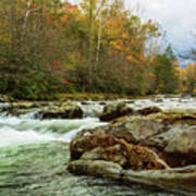 Little Pigeon River In The Greenbrier Section Of Smoky Mountains Art Print