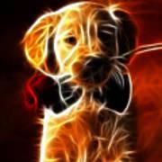 Little Puppy In Love Art Print