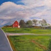 Little Red Barn On Detrick Rd Art Print