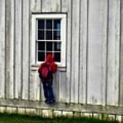 Little Red Peeping Tom Art Print