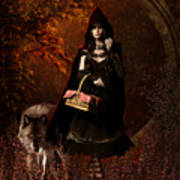Little Red Riding Hood Gothic Art Print