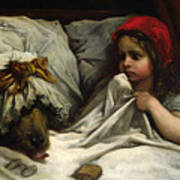 Little Red Riding Hood Art Print by Gustave Dore