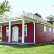 Little Red Schoolhouse, Council Grove Art Print
