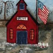 Little Red Schoolhouse Art Print