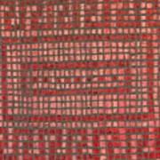 Little Red Tiles Art Print