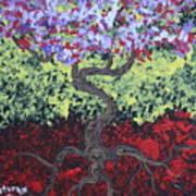 Little Red Tree 2 Art Print