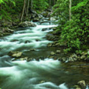 Little River Tremont Area Of Smoky Mountains National Park Art Print