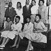 Little Rock Nine And Daisy Bates Posed Art Print