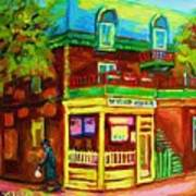 Little Shop On The Corner Art Print