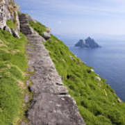 Little Skellig Island, From Skellig Michael, County Kerry Ireland Art Print