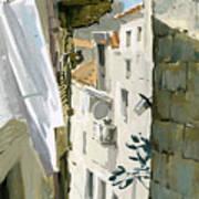 Little Street In Dubrovnik Art Print