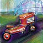 Little Tractor Art Print