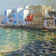 Little Venice Mykonos Art Print