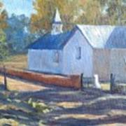 Little White Church In New Mexico Art Print