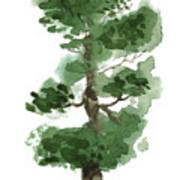 Little Zen Tree 144 Art Print
