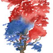 Little Zen Tree 292 Art Print by Sean Seal