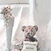 Live, Laugh And Love Bear Art Print