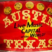 Live Music Mural Of Austin Art Print