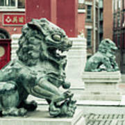 Liverpool Chinatown - Chinese Lion D Art Print