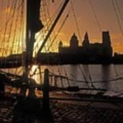 Liverpool, England View From Albert Dock Art Print