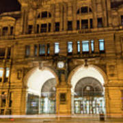 Liverpool Exchange Railway Station By Night Art Print